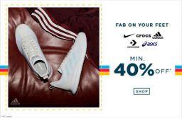 Min 40 Percent Off on Footwear | AJIO