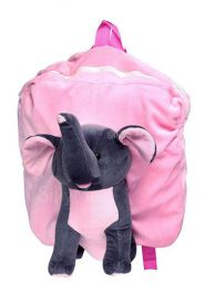 Funny Teddy Lightweight Elephant Cartoon School Bag For Kids (Pink)