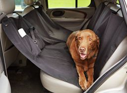 AmazonBasics Waterproof Car Hammock Rear Seat Cover for Pets - 55 x 59 Inches