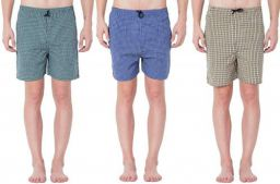 River Hill Self Design Men's Multicolor Regular Shorts (Pack of 3)
