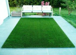 Fresh From Loom Natural Looking Garden Green Artificial Grass Mat Carpet for Balcony and for Home Decoration (Size-4 X 5 Feet)
