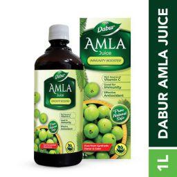 DABUR Amla Ayurvedic Juice: 100% Ayurvedic Health Juice - 1L