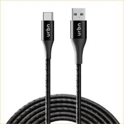 URBN Type-C USB 3 Amp Fast Charging Data and Sync Cable Extra Tough Quick Charge 18W Compatible