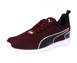 Puma Men's Concave Pro Idp Rhubarb White Black Running Shoes- 7 UK