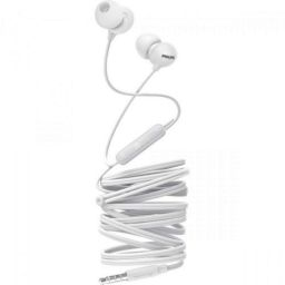 Philips SHE2405WT/00 Upbeat inear Earphone with Mic (White)