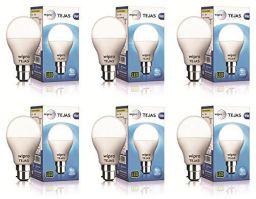 Wipro Tejas Base B22 9-Watt LED Bulb (Pack of 6, Cool Day Light)