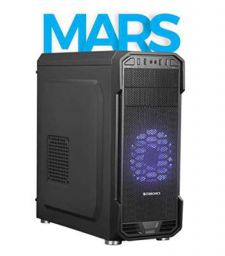 Zebronics Zeb-Mars Premium Gaming Chassis Comes with 120mm Front Fan with 33 LED Purple Fan & Magnetic Dust Filter (Black)