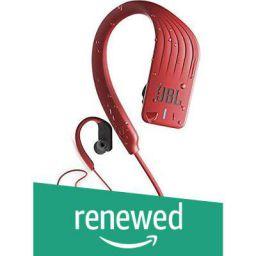 (Renewed) JBL Endurance Sprint Waterproof Wireless in-Ear Sport Headphones with Touch Controls (Red)