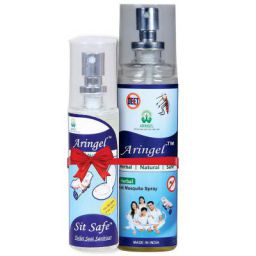 Aringel Anti Mosquito Spray (100ml) with Sit Safe Toilet Seat Sanitizer (50ml)