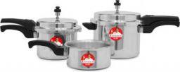 Wonderchef Ruby Outer Lid 2 L, 3 L, 5 L Induction Bottom Pressure Cooker (Aluminium)