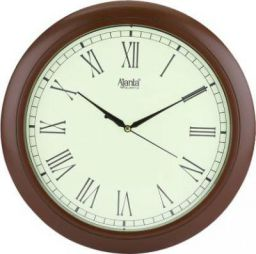 Ajanta Analog 31.3 cm X 31.3 cm Wall Clock  (Brown, With Glass)