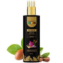 Organix Mantra Red Onion Oil with Argan, Jojoba, Hibiscus, Curry Leaves, Tea Tree, Organic Multi Purpose Hair Oil (250ML