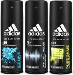 Adidas Deodorant Body Spray Combo, 150 ml (Pack of 3)