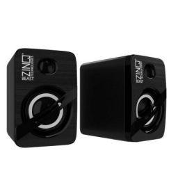 Zinq Technologies Beast Portable Laptop/Desktop USB Powered Multi-Media Speaker with AUX Input (Black)