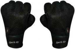 Sports 101 Ninja Pro Leather Fitness Gloves, Free Size (Black)