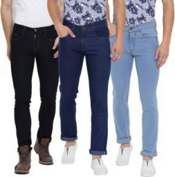 Tribewear Men Multicolor Jeans | Pack of 3