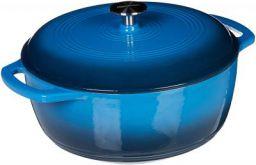 AmazonBasics Enameled Cast Iron Covered Dutch Oven, 4.1 Liter