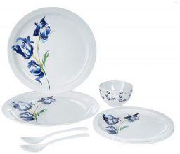 Iveo Fantastic Melamine Dinnerware Set, 8-Pieces, Bloossom