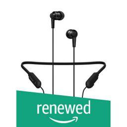 (Renewed) Pioneer SE-C7BT Neck Band Type Bluetooth Earphone (All Black)