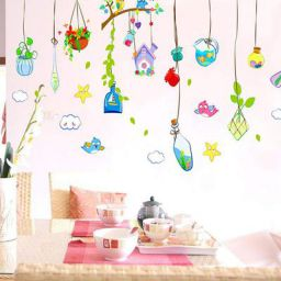 Ampire Wall Stickers Animated Hanging Garden Stuff Decor for Home