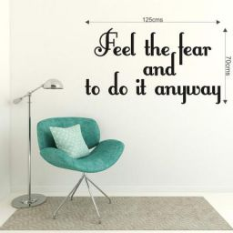 DeStudio 'Feel The Tear' Wall Quote Sticker (PVC Vinyl Film, 125 cm x 70 cm x 0.01)