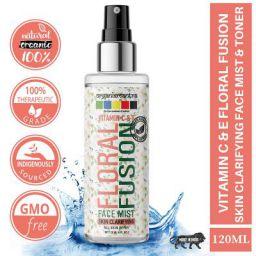Organix Mantra Vitamin C & E Floral Fusion Face Mist & Toner, Skin Clarifying - 120ml - Clarity & Refresh