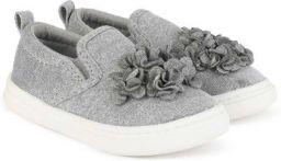 WONDER NATION by Walmart Girls Slip on Sneakers (Grey)
