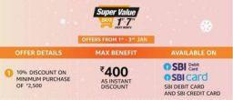 Amazon Super Value Days: SBI card Offer