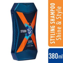 Set Wet Studio X Styling Shampoo For Men - Shine & Style 380 ml