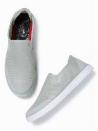 Mast & Harbour Slip On Sneakers For Men  (Grey)