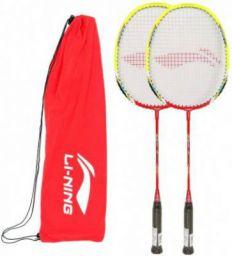 Li-Ning XP 80 II, Pack of 2 Red Strung Badminton Racquet (Pack of: 2, 85 g)