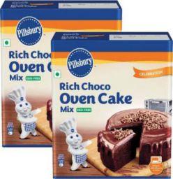 Pillsbury Rich Choco Oven Cake Mix 540 g (Pack of 2)
