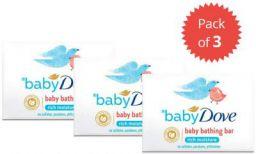 Baby Dove Rich Moisture Bar, 75 g (Pack of 3)