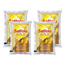 Saffola Gold, Pro Healthy Lifestyle Edible Oil, 4 X 1 L