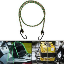Autofy Multipurpose Ultra Flexible Bungee Rope/Luggage Strap/Bungee Cord with 10 MM Diameter and Metal Hooks