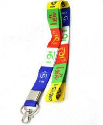 Faynci Premium Quality Fabric Tibetan Ladakh Prayer Hook Key Chain for Bike Lover Key Chain