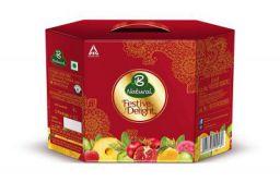 B Natural Juice Festive Delight Assorted Hexagonal Pack, 3 L