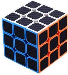 Miss & Chief Carbon Fiber Stickers 3x3 Neon Colors Magic Cube Puzzle Toy (1 Pieces)