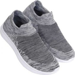 Sukun Socks Shoes Slip-On Sneakers For Men  (Grey, Black)