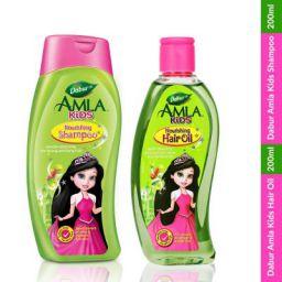 Dabur Amla Kids Castle Pack (Combo of Hair Oil & Shampoo) | No Paraben & No Paraffin - 400 ml