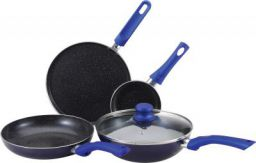Bergner Esprit - 5 Piece Cookware Set Aluminium Cookware in Blue Colour by HoemTown