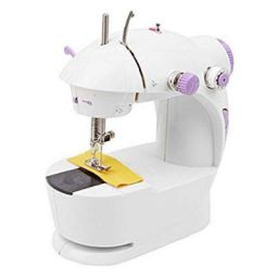 Qualimate Mini Portable Sewing Machine for Home Tailoring
