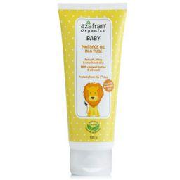 Azafran Organics Baby Massage Oil in a Tube, 100g