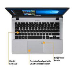 ASUS VivoBooK Intel Core i5 8th Gen 14-inch Thin and Light Laptop (4GB/16GB Optane/1TB HDD/Windows 10/Stary Gray/1.55 Kg), X407UA-EB419T