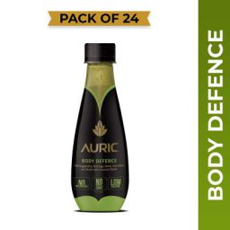 Auric Body Defence Juice for Immunity,All Natural Ayurvedic Drink Goodness of Superherbs with Coconut Water,(250ML*24)