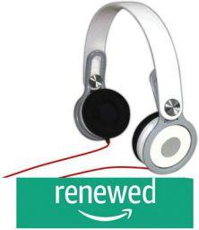 Adcom AHP-C611 On Ear Wired Basic Stereo Headphones (White