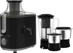Maharaja Whiteline Montero (JX-126) 550 W Juicer Mixer Grinder (Black, Grey, 3 Jars)