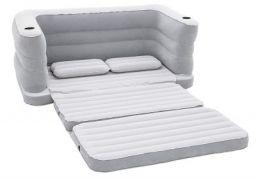 Bestway 2 in 1 Inflatable Sofa Cum Bed (Grey)
