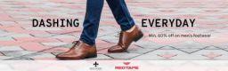DASHING EVERYDAY   Min 60% Off on Mens Footwear