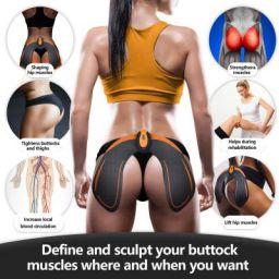 YozoAbs Stimulator Hips Trainer,Ab Workout Equipment Machine, Electronic Backside Muscle Toner,Smart Training Wearable Buttock Toner Trainer for Men Women (Black)
